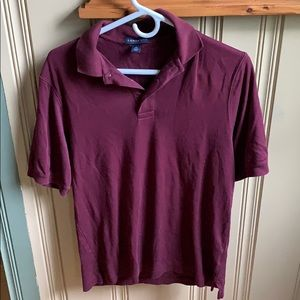 Maroon lands end polo